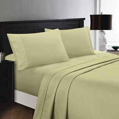Woodward Rayon from Polyester Comfort Sheet Set Size: Full/Double, Color: Sage