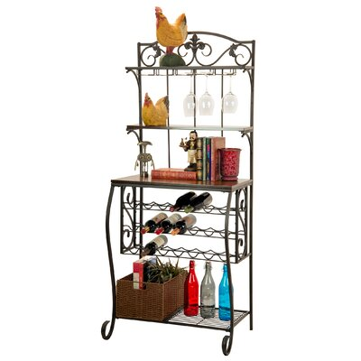 21 Bottle Floor Wine Rack