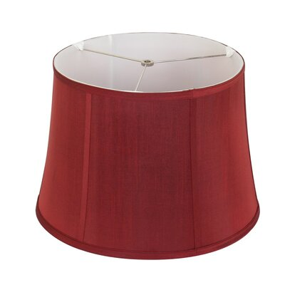 16 White Linen Lamp Shade Color: Merlot