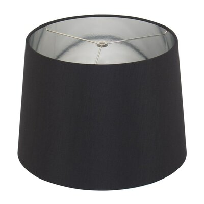 15 Linen Drum Lamp Shade Color: Black/Silver