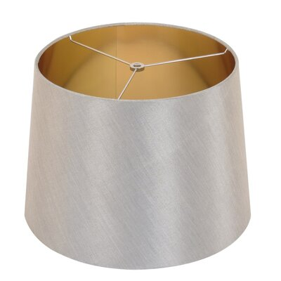 15 Linen Drum Lamp Shade Color: Brushed Nickel/Gold