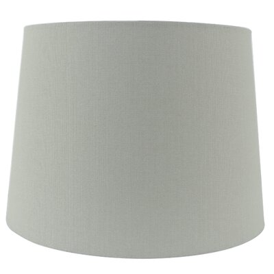 15 Linen Drum Lamp shade Color: Gray