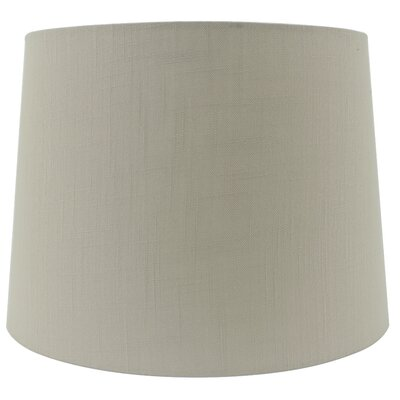 15 Linen Drum Lamp shade Color: Tan