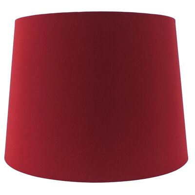 15 Linen Drum Lamp shade Color: Red