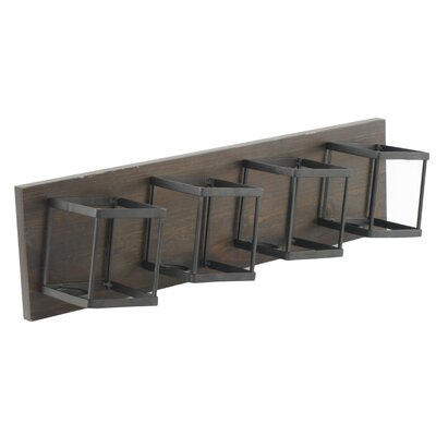 4 Bottle Wall Mounted Wine Bottle Rack