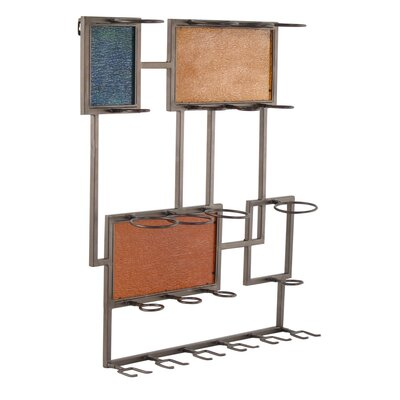 Metal 6 Bottle Wall Mounted Wine Bottle Rack