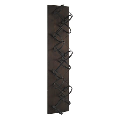 6 Bottle Wall Mounted Wine Bottle Rack