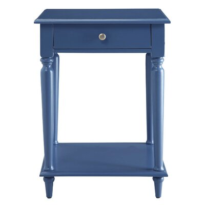Wooden End Table Color: Blue