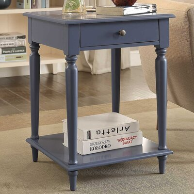 Wooden End Table Color: Gray