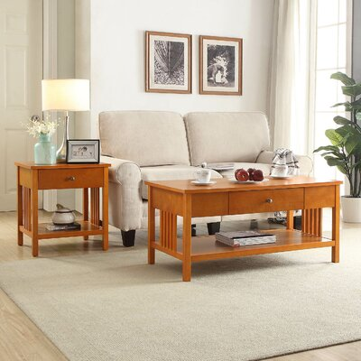 Bechtel Mission Style Wood End Table Color: Oak