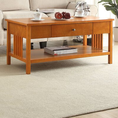 Bechtel Mission Style Wood Coffee Table Color: Oak