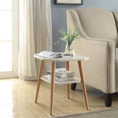 Ulrey Modern Wood End Table Color: White