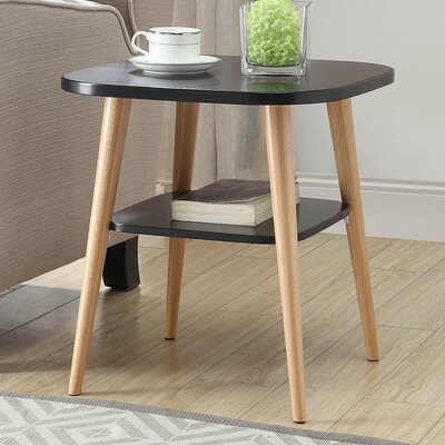 Ulrey Modern Wood End Table Color: Black
