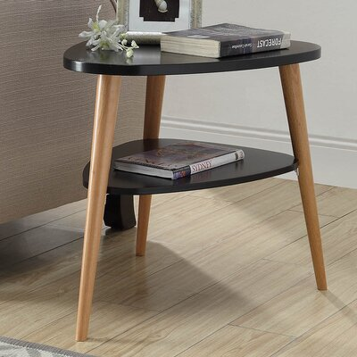 Ulrey Wood End Table Color: Black