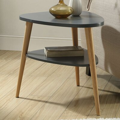 Ulrey Wood End Table Color: Gray