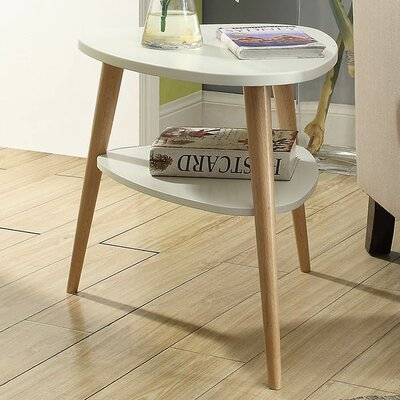 Ulrey Wood End Table Color: White