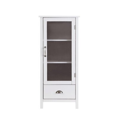 Anisa Wood Storage Curio Cabinet Color: White