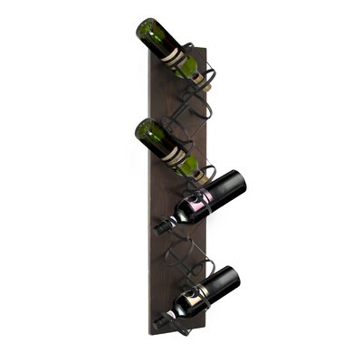 Sherlene 6 Bottle Mounted Wine Rack