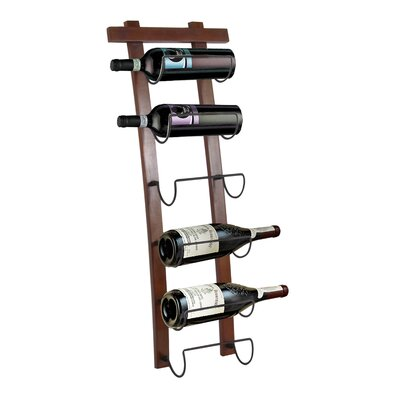 Crestside 6 Bottle Wall Mounted Wine Rack