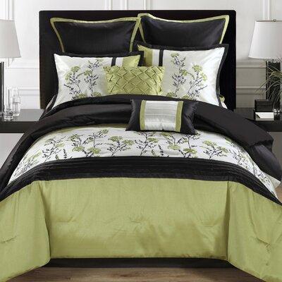 Wild Flower 8 Piece Comforter Set Size: King WILDFLOWCFKG