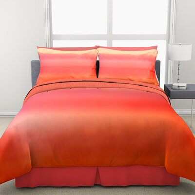 Ombre 2 Piece Comforter Set Color: Orange