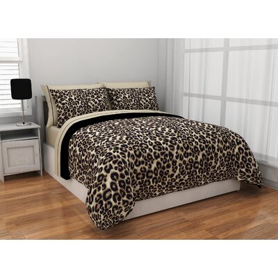 Cheetah Reversible Bed in a Bag Set Size: Twin
