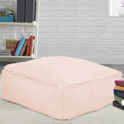 Allie Faux Fur Floor Pillow Color: Pink