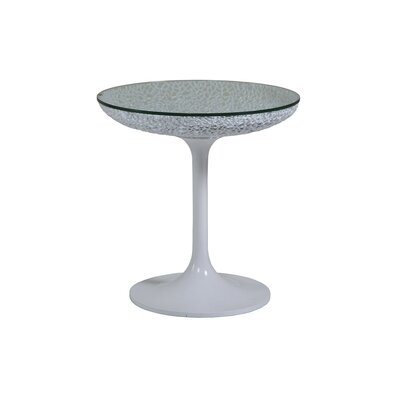 Seascape Round Spot End Table Table Base Color: White