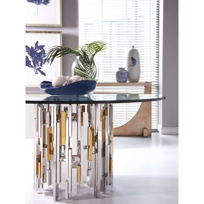 Cityscape Dining Table with Glass Top