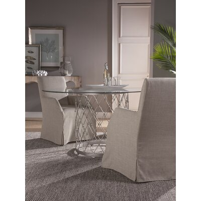 Royere Dining Table with Glass Top Base Color: St. Laurent