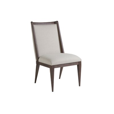 Haiku Upholstered Dining Chair Color: Marrone