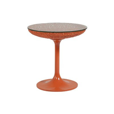 Seascape Round Spot End Table Table Base Color: Orange