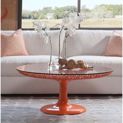 Seascape Coffee Table Table Base Color: Orange