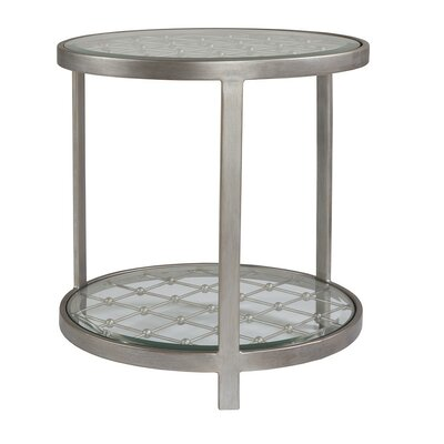 Royere End Table Table Base Color: Argento