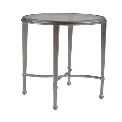 Sangiovese Round End Table Table Base Color: Argento