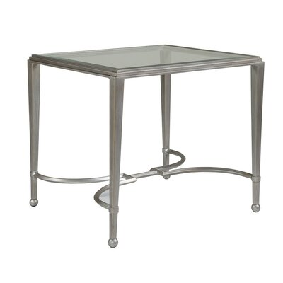 Sangiovese Rectangular End Table Table Base Color: Argento