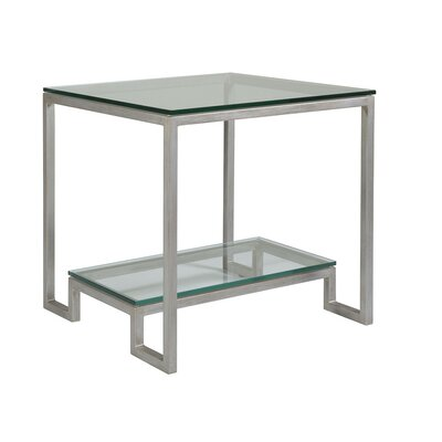 Bonaire Square End Table Table Base Color: Argento
