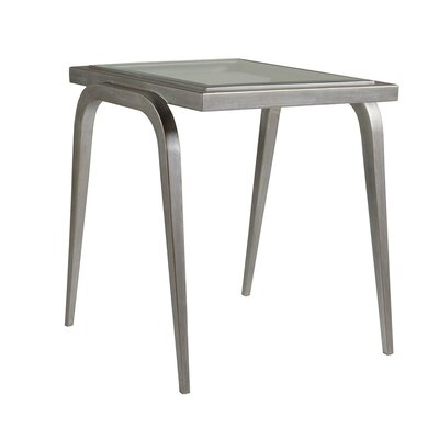 Image of Mitchum Rectangular End Table Table Base Color: Argento