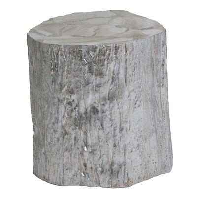 Trunk Segment Spot End Table Color: Silver
