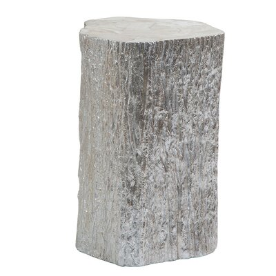 Trunk Segment End Table Color: Silver