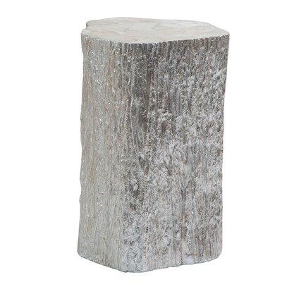 Trunk Segment End Table Color: Silver