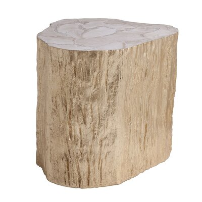 Trunk Segment End Table Color: Gold