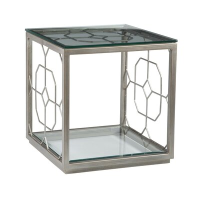 Honeycomb Square End Table Table Base Color: Argento