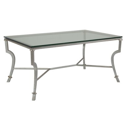 Syrah Coffee Table Size: 19 H x 54 W x 36 D, Table Base Color: Argento