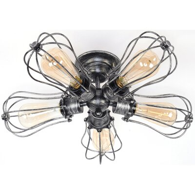 5-Light Semi Flush Mount