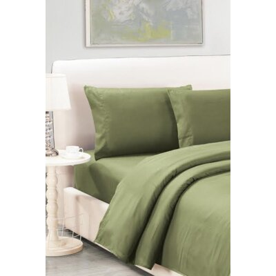 Sheet Set Size: Full, Color: Moss