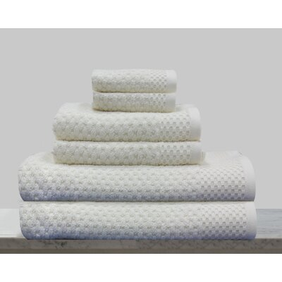 Kempsey 6 Piece Towel Set Color: Ivory