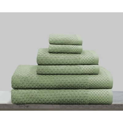 Kempsey 6 Piece Towel Set Color: Sage Green