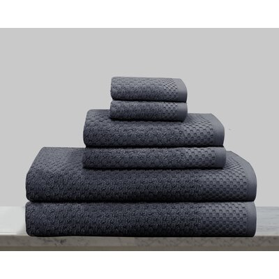 Kempsey 6 Piece Towel Set Color: Dark Gray