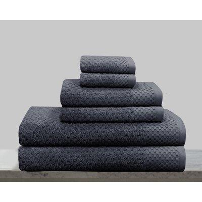 Kempsey 6 Piece Towel Set Color: Dark Gray